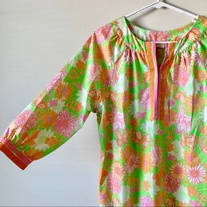 Vintage 60s Lilly Pulitzer butterfly tunic dress